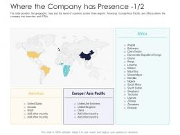 After Market Investment Pitch Deck Where The Company Has Presence Asia Ppt Powerpoint Image