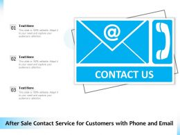 After Sale Contact Service For Customers With Phone And Email
