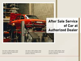 After Sale Service Of Car At Authorized Dealer