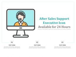 After Sales Support Executive Icon Available For 24 Hours