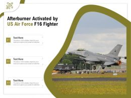 Afterburner Activated By US Air Force F16 Fighter