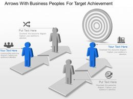 Ag Arrows With Business Peoples For Target Achievement Powerpoint Template Slide