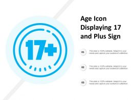 Age Icon Displaying 17 And Plus Sign