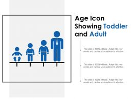 Age Icon Showing Toddler And Adult
