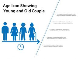 Age Icon Showing Young And Old Couple