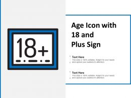 Age Icon With 18 And Plus Sign