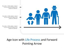 Age Icon With Life Process And Forward Pointing Arrow