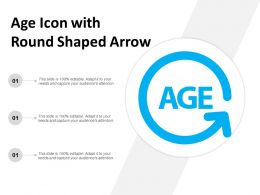 Age Icon With Round Shaped Arrow