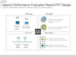 Agency Performance Evaluation Report Ppt Design
