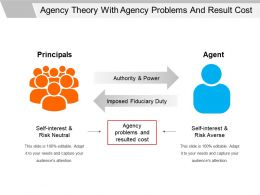 Agency Theory With Agency Problems And Result Cost