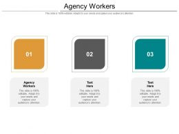 Agency Workers Ppt Powerpoint Presentation Layouts Templates Cpb