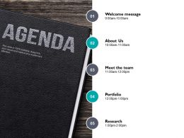 Agenda About Us I67 Ppt Powerpoint Presentation Diagram Graph Charts
