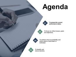 Agenda Accountability Barriers C325 Ppt Powerpoint Presentation Outline Files