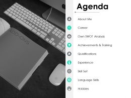 Agenda Achievements And Training Ppt Powerpoint Presentation Pictures Diagrams