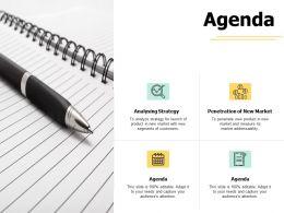 Agenda Analysing Strategy A436 Ppt Powerpoint Presentation Inspiration Background