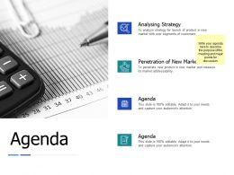 Agenda Analysing Strategy J148 Ppt Powerpoint Presentation Diagram Lists