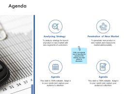 Agenda Analysing Strategy K216 Ppt Powerpoint Presentation Icon Slides