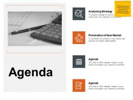 Agenda Analysing Strategy L189 Ppt Powerpoint Presentation Ideas Shapes