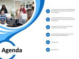 Agenda Android Application Development Ppt Powerpoint Presentation Visuals