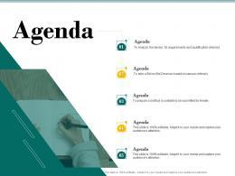 Agenda Bid Evaluation Management Ppt Powerpoint Presentation Portfolio Template