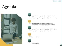 Agenda Business C1609 Ppt Powerpoint Presentation Pictures Skills