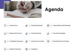 Agenda Business Focus L1232 Ppt Powerpoint Presentation Slides