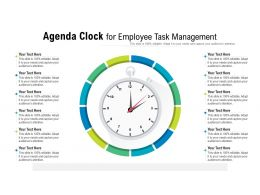 Agenda Clock For Employee Task Management