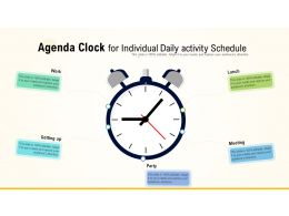 Agenda Clock For Individual Daily Activity Schedule