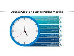 Agenda Clock On Business Partner Meeting