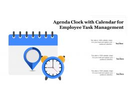 Agenda Clock With Calendar For Employee Task Management