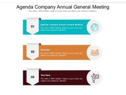 Agenda Company Annual General Meeting Ppt Powerpoint Presentation Slides Display Cpb