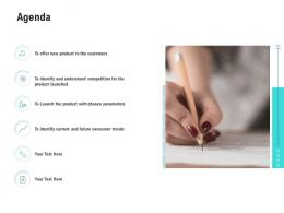 Agenda Competitor Analysis Product Management Ppt Slides