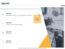 Agenda Cross Selling Technique Ppt Powerpoint Presentation Model Layout