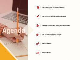 Agenda Deliverables Effectively Ppt Powerpoint Presentation Outline