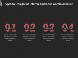 Agenda Design For Internal Business Communication Example Of Ppt