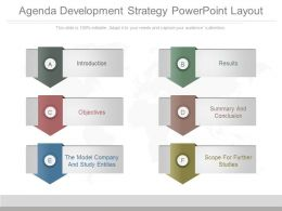 Agenda Development Strategy Powerpoint Layout
