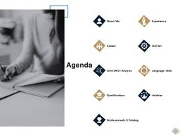 Agenda Experience Ppt Powerpoint Presentation Slides Structure