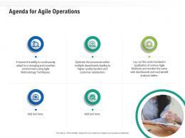 Agenda For Agile Operations Ppt Powerpoint Presentation Summary Good