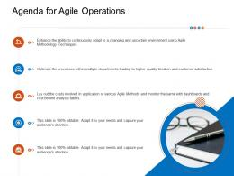 Agenda For Agile Operations Techniques Ppt Sample