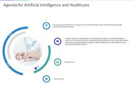 Agenda For Artificial Intelligence And Healthcare Ppt Powerpoint Presentation Ideas