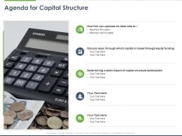 Agenda For Capital Structure Ppt Powerpoint Presentation Show Diagrams