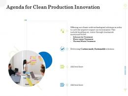 Agenda For Clean Production Innovation Ppt Professional Outline