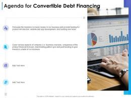 Agenda For Convertible Debt Financing Ppt Demonstration