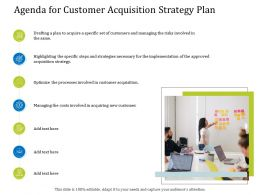 Agenda For Customer Acquisition Strategy Plan Steps Ppt Powerpoint Model Vector