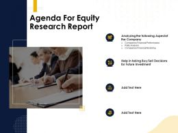 Agenda For Equity Research Report Companies Financial Ppt Powerpoint Presentation Layouts Graphics