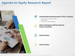 Agenda For Equity Research Report Ppt Powerpoint Presentation Summary Format