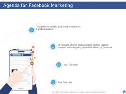 Agenda For Facebook Marketing Digital Marketing Through Facebook Ppt Themes