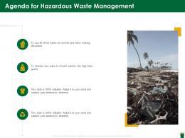 Agenda For Hazardous Waste Management Ppt Rules