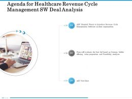 Agenda For Healthcare Revenue Cycle Management SW Deal Analysis Bid Ppt Powerpoint Diagram