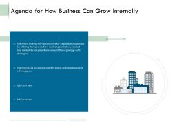 Agenda For How Business Can Grow Internally Ppt Powerpoint Presentation